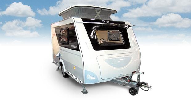 Kort maar prachtig silver mini caravan hefdak kamperen - Caravan ingericht ...