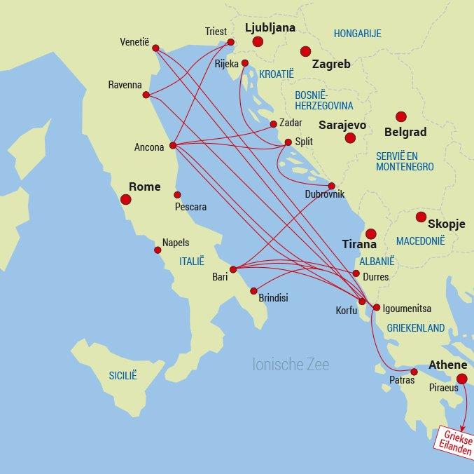 Middellandse Zee Oost Havensteden Overtocht Ferry