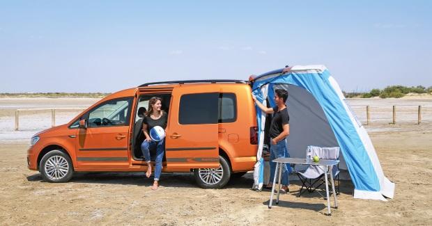nieuw vw caddy beach camper bus trekauto kamperen. Black Bedroom Furniture Sets. Home Design Ideas