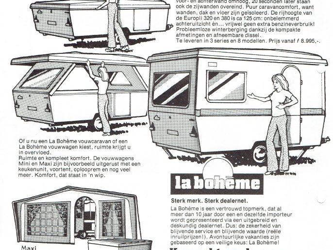 advertentie vouwwagen la boheme