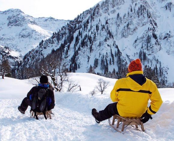 Sleeën in de Allgauer-Alpen