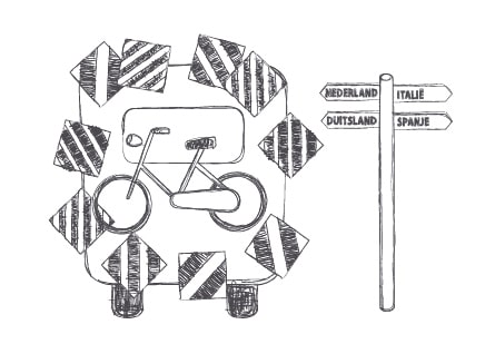 illustratie markeringsborden