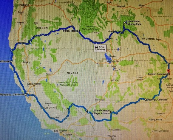 Route West-USA