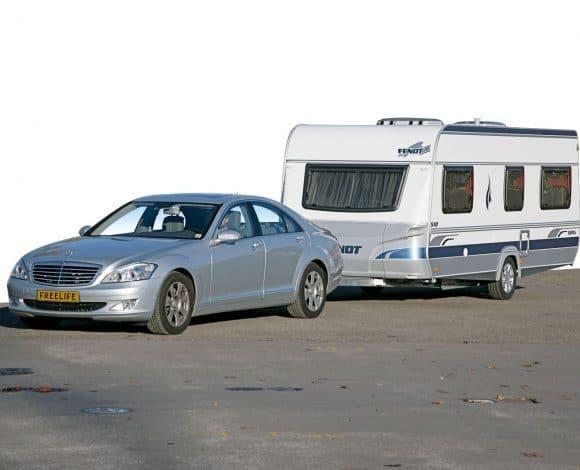 Mercedes S-klasse en Fendt Topas