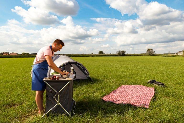 Campingkok Tim hamburgers