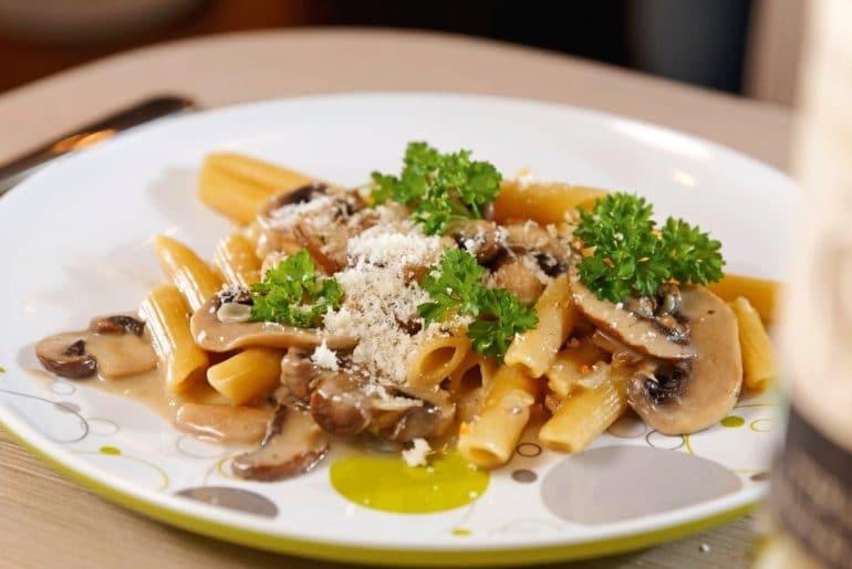 campingrecepten pasta funghi