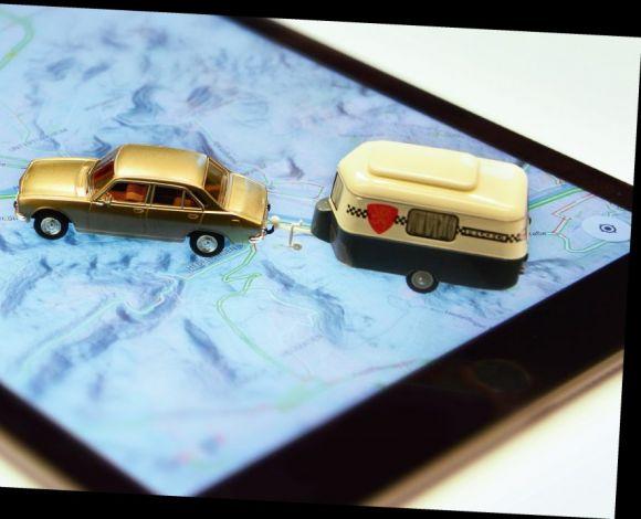 Navigeren auto caravan