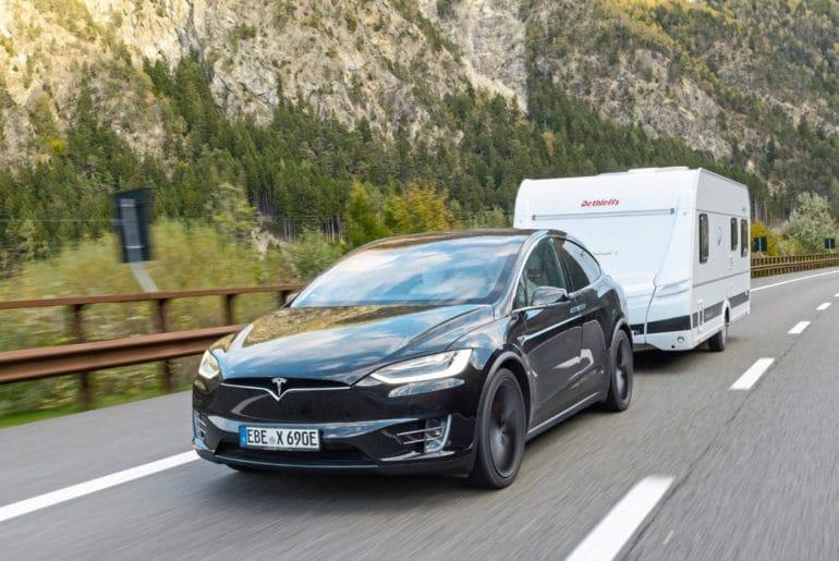 elektrische trekauto_Tesla Model X_Dolomieten