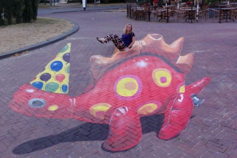 Onder andere deze 3D-creatie is te bewonderen in de Arnhemse binnenstad