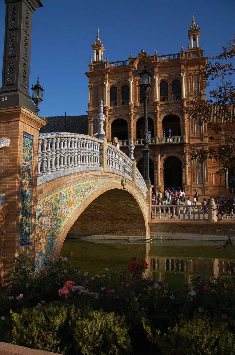 Piet Perry was in Sevilla en maakte deze fraaie foto op het Plaza de España