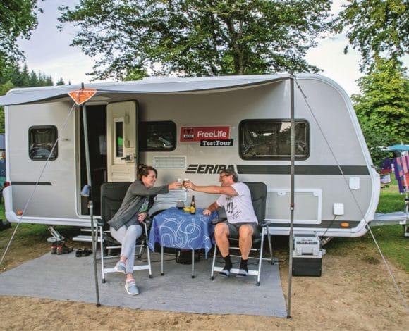 Campings tijdens de FreeLife TestTour