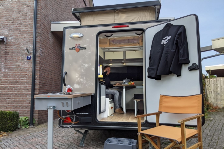Kip Shelter kantoor thuiswerken