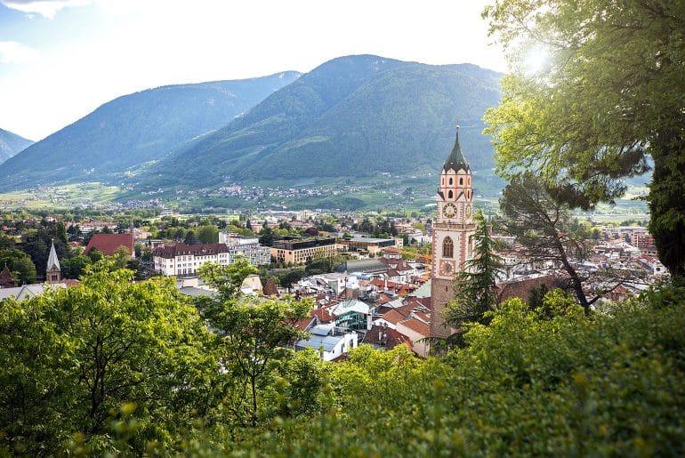 Kuurstad Meran in Zuid-Tirol